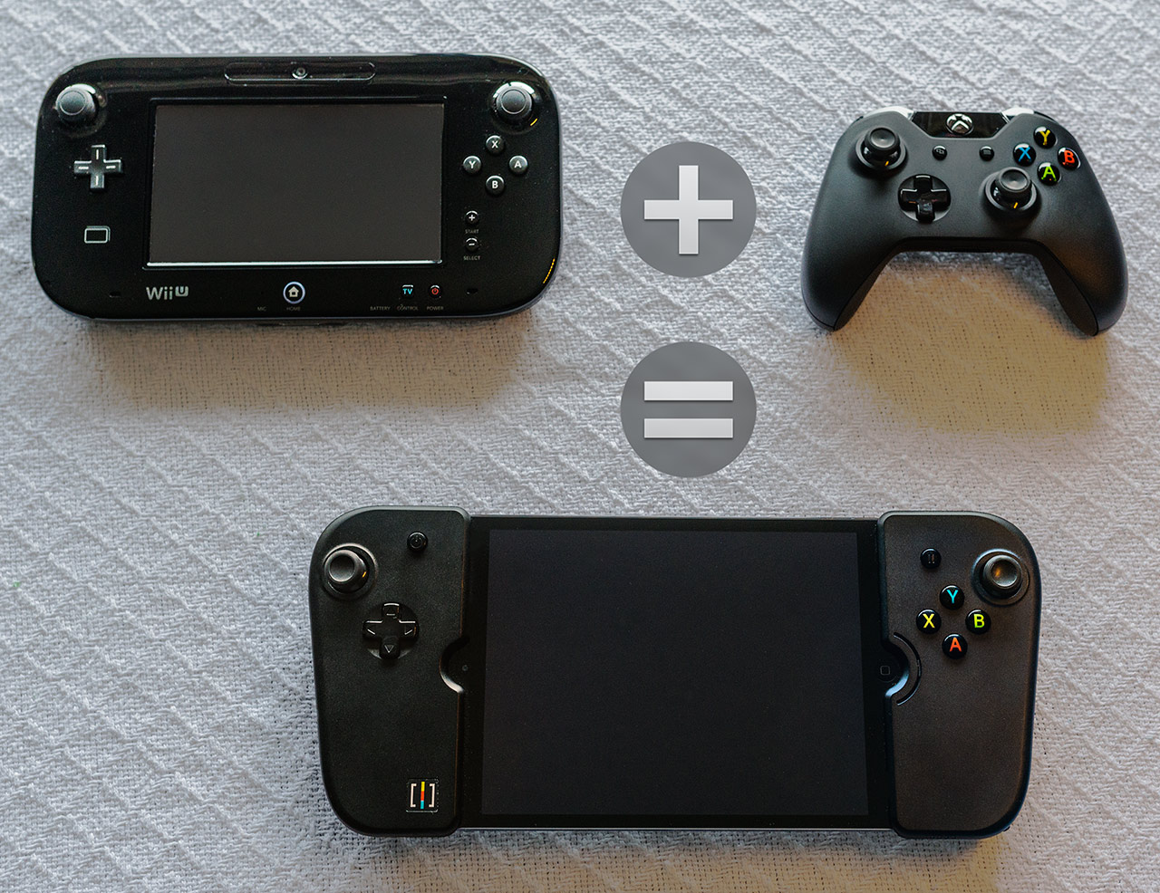 The Gamevice, The WiiU Gamepad, and the Xbox One Controller