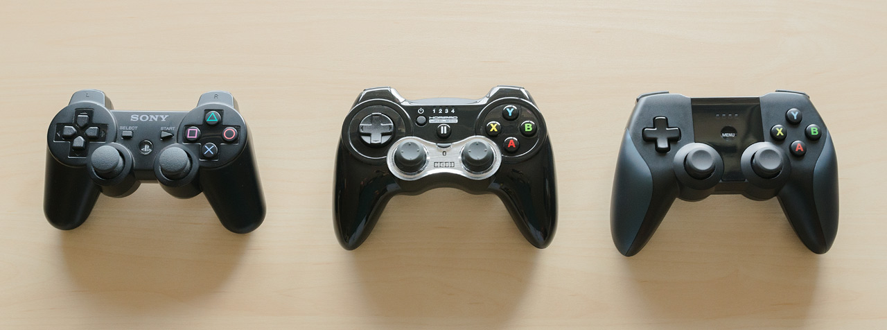 Horipad vs Horipad Ultimate vs PS3 Controller